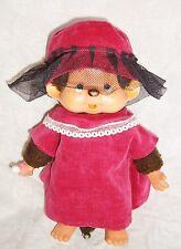 Vintage vêtements Kiki robe + chapeau velours/ tulle  framboise