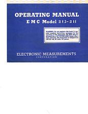 EMC 211 213 & 215 Tube Tester Manual Reprint