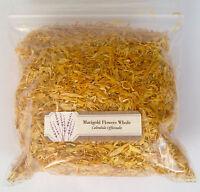1 oz. Marigold Flowers Whole (Calendula Officinalis) <28 g /.063 lb> Dried