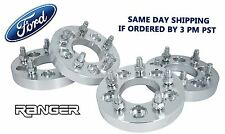 """4 PC FORD RANGER XLT 2X4 4X4 25 MM THICK WHEEL SPACERS 1/2"""" LUG NUTS"""