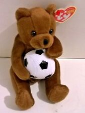 "Ty Beanie Babies "" SWEEPER""  ( Soccer player -Bear) ~ Retired MINT TAG"