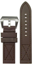 22mm Panatime MB-1 Brown Loco Horse Watch Band w/Match X Stitching 22/22 125/75
