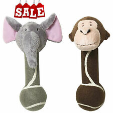 Jungle Friends Monkey and Elephant Tennis Ball Dog Toy Set *RRP - £7.98