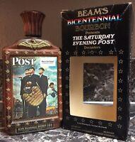 Jim Beam Vintage Decanter empty 1976 Saturday Evening Post: Baseball 1949 + Box
