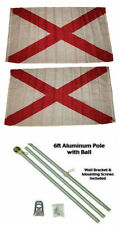 3x5 St. Patrick's Cross 2ply Flag Aluminum Pole Kit Gold Ball Top 3'x5'