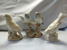 Three Bird Figurines - Duncan Royale - Muted Neutral Colors