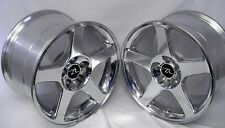 "17"" Polished 03 Mustang Cobra Style Wheels 17x9 17x10.5 5x114.3 Terminator 94-04"