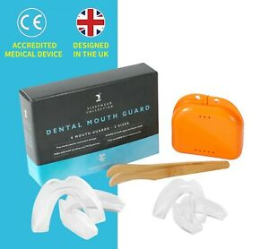 Mouth guard for teeth grinding *4 Dental Mouth Guards protect clenching BRUXISM