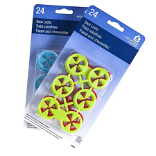 Sock Lock Rings for Laundry 48 Clip Locks (colors may vary)
