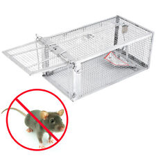Animal Trap Humane Large Steel Cage Rodent Spring Loaded Raccoon Mouse rat alive