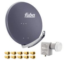 FUBA DAA 850 A Alu SAT Antenne 3D 4K HD Anthrazit + Unicable LNB + 10 F-Stecker