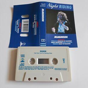 MAGNUM NIGHT RIDING CASSETTE TAPE CASTLE KNIGHT UK 1988