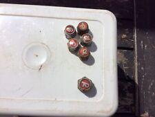"""Vintage Raleigh Red """"R"""" Wheel Nuts 5+1"""