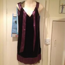 Christmas XMAS Purple Velvet SHIFT AUTOGRAPH M&S Dress 8 Cocktail Party BNWT NEW
