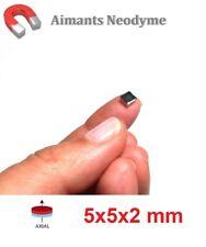 Lot aimant bloc 5x5x2 mm Très Puissant Neodyme N35 : Fixation, Magnet, Fimo..