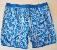Vineyard Vines Men's Abstract Palms Board Shorts Blue Trunks Swimwear Sz 42 $89