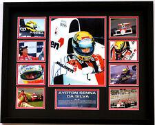 New Aryton Senna Signed Limited Edition Memorabilia Framed