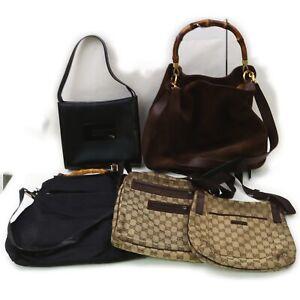 Gucci Nylon Suede Leather Canvas Hand/Shoulder Bag  5pc set 519515