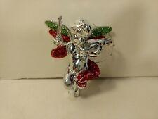 Plastic Angel Playing Violin Christmas Tree Ornament Decoration ch1309