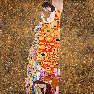 Gustav Klimt, Hope 1907, Fade Resistant HD Art Print or Canvas