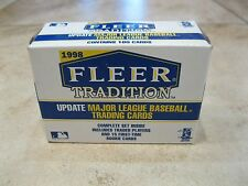 1998 Fleer Tradition Update Baseball Set - Factory Sealed