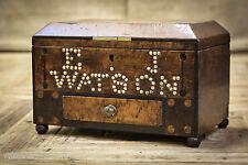 Early 19th Century Mahogany Studded Marriage Box