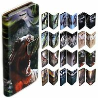 For LG Series - Dinosaur Theme Print Wallet Mobile Phone Case Cover #2