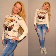Follow Me TEDDY Pullover / Shirt WEISS