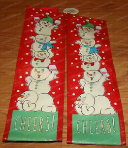 Cheers! Wine Bag (Dept. 56 Snowpinions by Enesco, 6002258) 2pcs