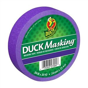 Purple Duck Masking Color Masking Tape .94 inch x 30 yd.