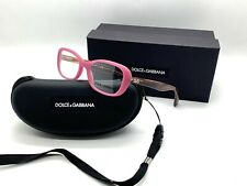 DOLCE GABBANA DD 1247 2599 Eyeglasses Glasses Matte Pink & Brown 50-17-135