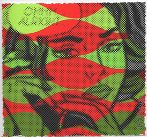 MR CLEVER ART OHHH ALRIGHT RED GREEN 1/1 UNIQUE Contemporary street urban pop