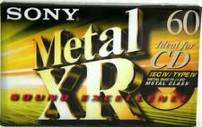 SONY METAL XR 60 TYPE IV AUDIO COMPACT CASSETTE METAL BIAS TAPE (1)