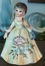 New ListingVintage Lefton Marika'S Original Happy Birthday Girl Figurine