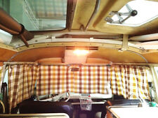Westfalia Front Curtains for VW T2 Split Screen 2pc with Gliders & Hooks C9305S