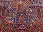 """EXCELLENT ANTIQUE 1900s HAND KNOTTED WOOL ORIENTAL RUG CLEANED 4'6"""" x7'3"""""""
