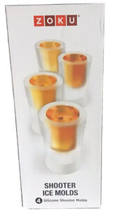 Zoku 4 Sippable Ice , Candy , Chocolate Shot Silicone Shooter Molds BNIB