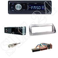 Caliber RMD021 Autoradio + Ford KA(RBT) 09/96-08/08 Blende silber + ISO Adapter