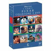 3 Dvd Box Cofanetto Disney I CORTI PIXAR collezione 3 DVD serie completa nuovo