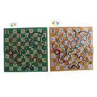 Folding Snake Chess Toys Portable Snakes ladders Puzzle Game Preschool Toys H3