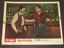 """JOHNNY MACK BROWN """"WHISTLING HILLS"""" (1951) CLASSIC WESTERN ACTION LOBBY CARD!"""