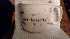 On your christening ceramic mug new