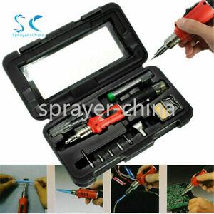 NEW HS-1115K 10 IN 1 Butane Gas Soldering Iron Kit Welding Kit Torch Pen Tool