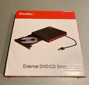 Rioddas External CD Drive Apple Windows USB 3.0 Portable CD/DVD +/-RW Drive