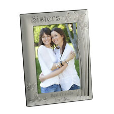 Sisters Photo Frame Silver Plated Velvet Backed 4 X 6 Inch