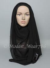 Premium Quality Chiffon Maxi Hijab Scarf Muslim Headcover 180x70 - 180x85 Cm