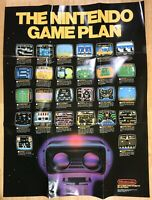 1985 EARLY NES TEST MARKET FIRST LARGE POSTER Nintendo GAME PLAN Black Box RARE!