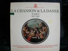 VINYL 33T – FOLK – CHANSON ET DANSE PARIS VERS 1540 – M CORBOZ + M PIGUET ERATO