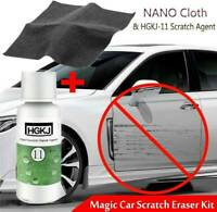 UK HGKJ-11 Car Paint Scratch Remover Repair Agent Wax & Magic Nano Cloth Surface