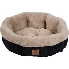 Precision Pet SnooZZy Mod Chic Round Shearling Bed, Black 21""